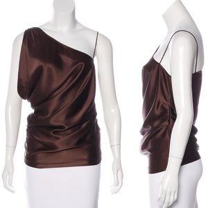 NWT Diane Von Furstenberg Silk 1 Shoulder Top
